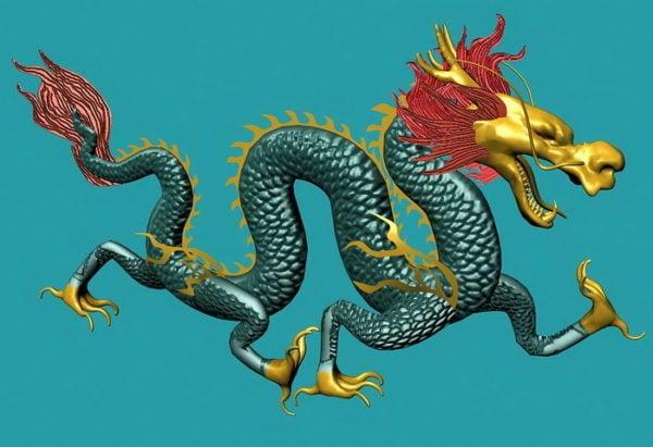 Vihreä kiinalainen lohikäärme
