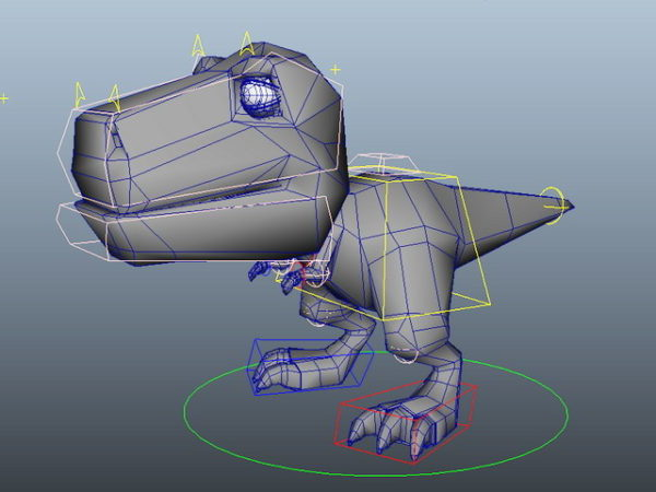 Söpö sarjakuva dinosaurus rig