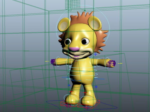 Cute Cartoon Lion Rig