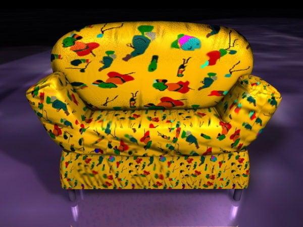 Yellow Sofa Chair