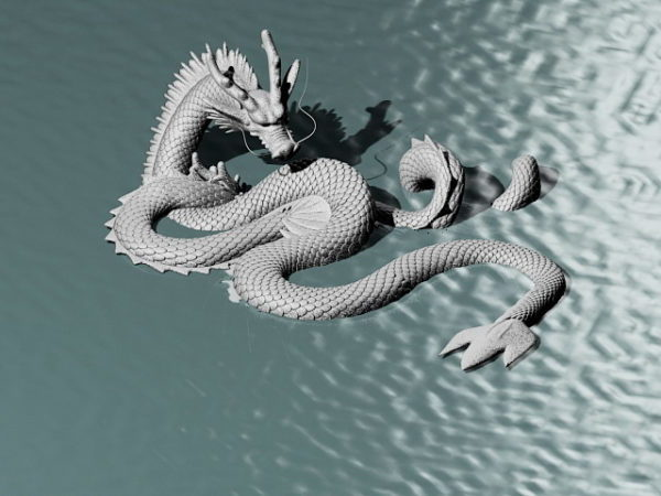 Chinese Double Dragon Sculpture Free 3d Model Max Open3dmodel