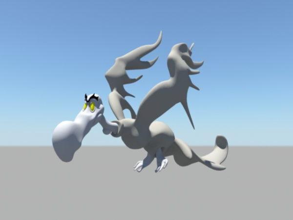 Animoitu sarjakuva korppikotka