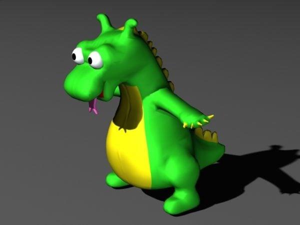 Vihreä dinosaurus sarjakuva