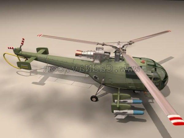 Alouette Iii Sukellusveneen vastainen helikopteri