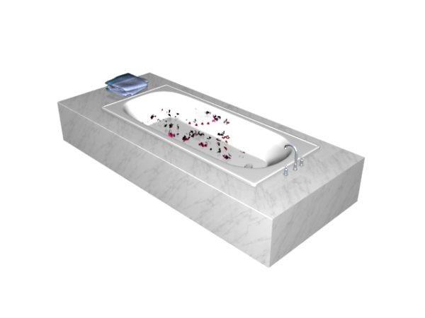 Marble Tiled Bathtub
