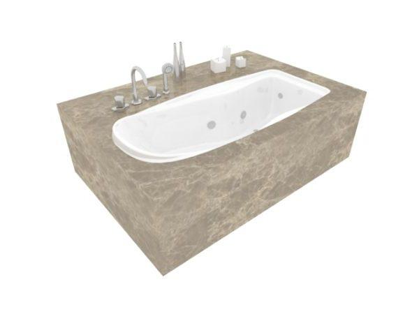 Marble Base Built In Bathtub