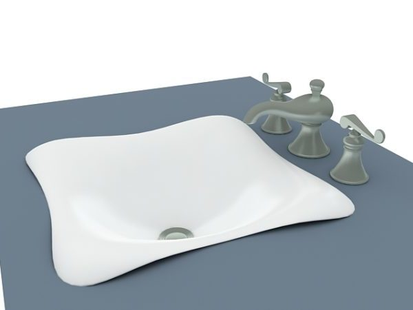 Bottom-mount Wash Basin With Faucet