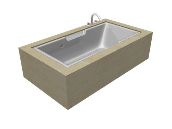 Marble Built In Bathtub