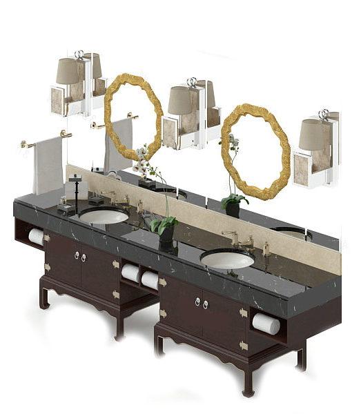 Mueble de tocador de baño antiguo