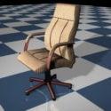 Sedia da ufficio direzionale a righe