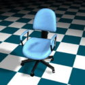 Blue Office Staff Chair
