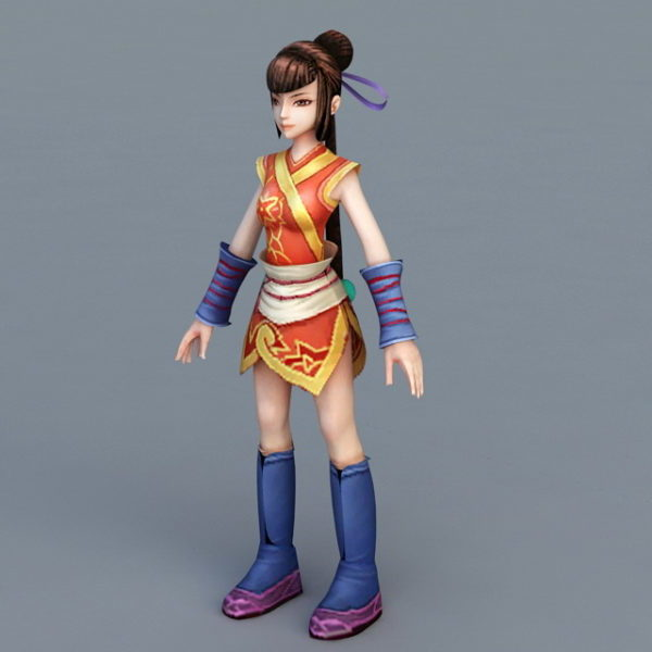 Chinese Martial Arts Anime Girl Free 3d Model Max Open3dmodel 31173