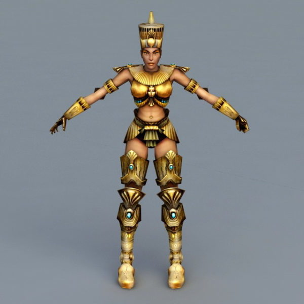 Egypt Female Warrior Rigged