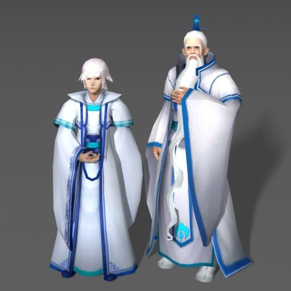 Valkoinen tukkainen pari