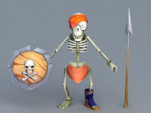 Cartoon Skeleton Warrior