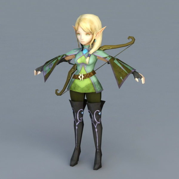 Anime Girl Elf Archer