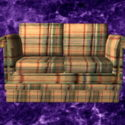 Plaid berbaring Loveseat