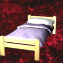 Single Bed With Sheets