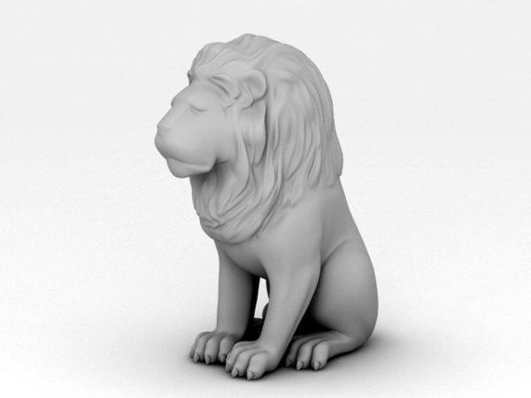 Estatua del león sentado
