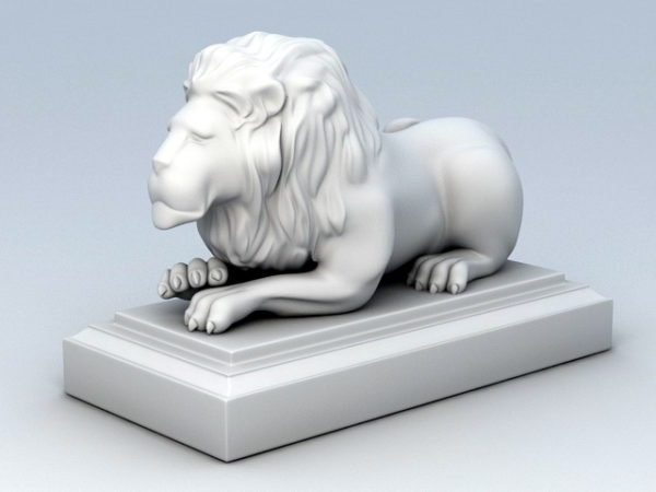 Laying Lion Statue