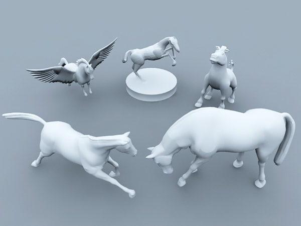 مجموعة تمثال الحصان
