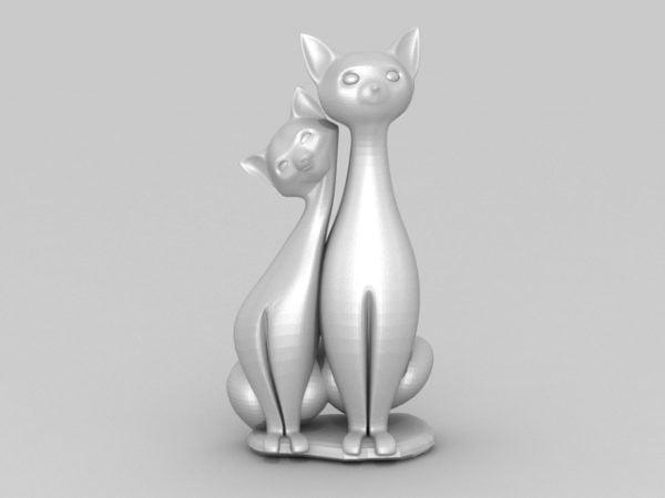 عشاق القط زوجين تمثال