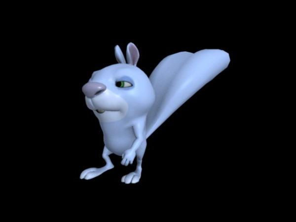 Animación de conejo de dibujos animados azul