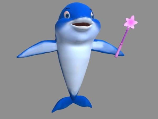 Delfín lindo de dibujos animados