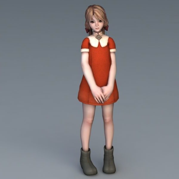 Vestido rojo chica