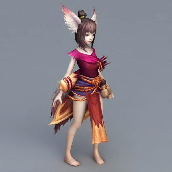 Fox Anime Girl Archer