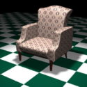 كرسي غرفة المعيشة اللكنة