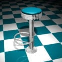 Floor Mounted Bar Stool