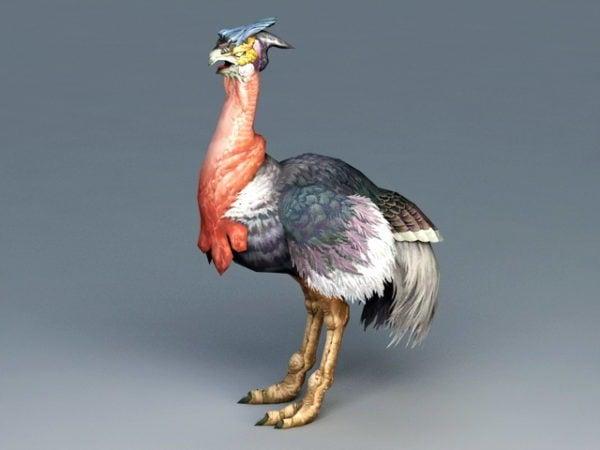 Pájaro Avestruz Rojo
