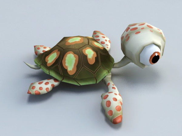 Animoitu vauva kilpikonna sarjakuva