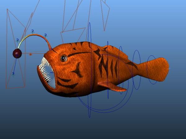 الأحمر الصياد تلاعب الأسماك