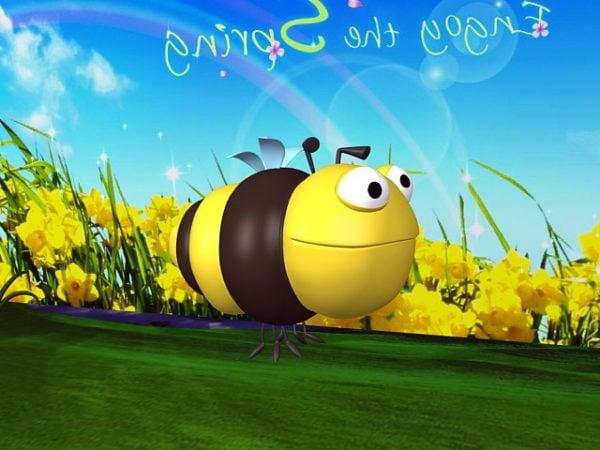 Bumble Bee De Dibujos Animados