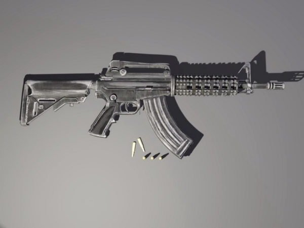 M4 Carbine With Bullet