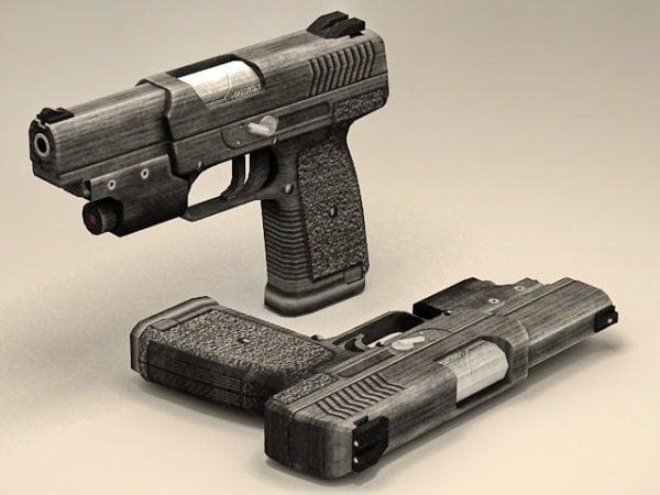 Sotilaspoliisin pistooli