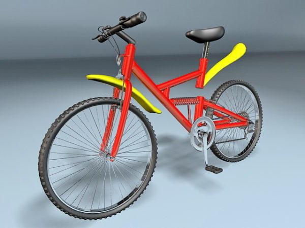 Red & Yellow Mountain Bike