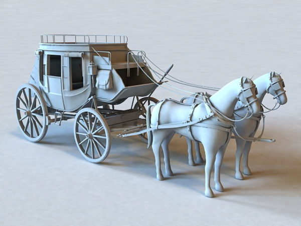 Vintage Horse And Carriage