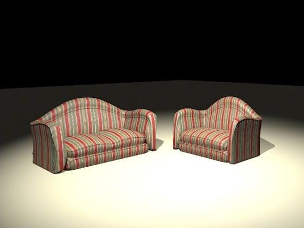 Striped Sofa Set