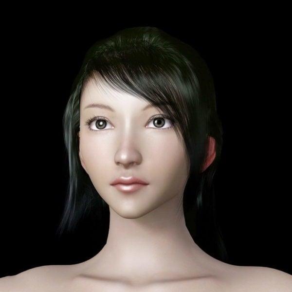 Hermosa mujer cabeza