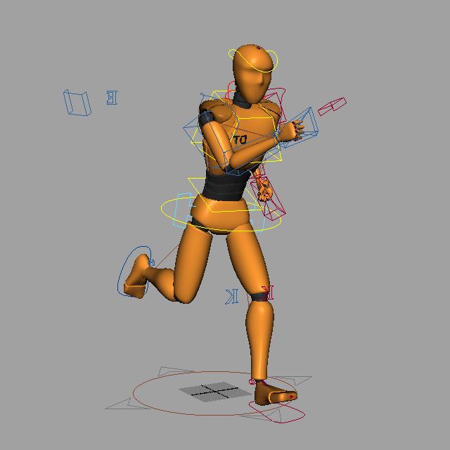 Animoidut oranssit ihmiset