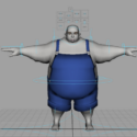Fat Cartoon Character Rig
