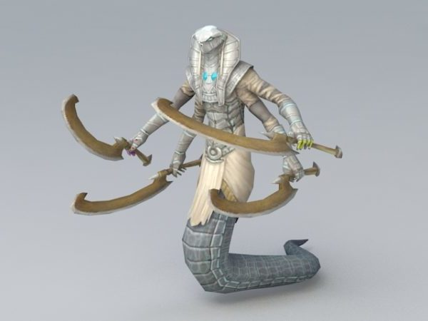 Animated Naga Warrior