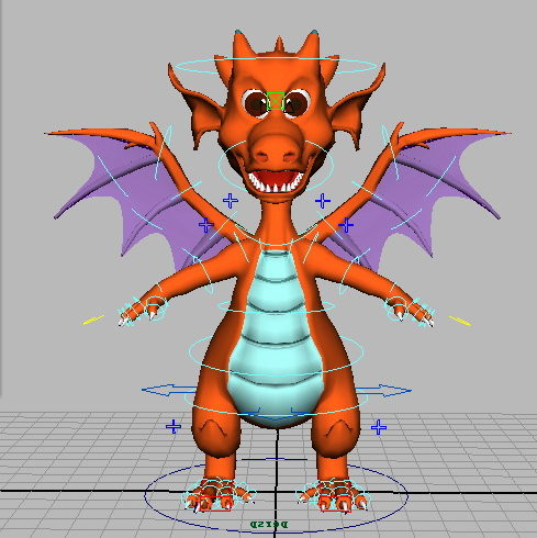 Cute Fire Dragon Rig