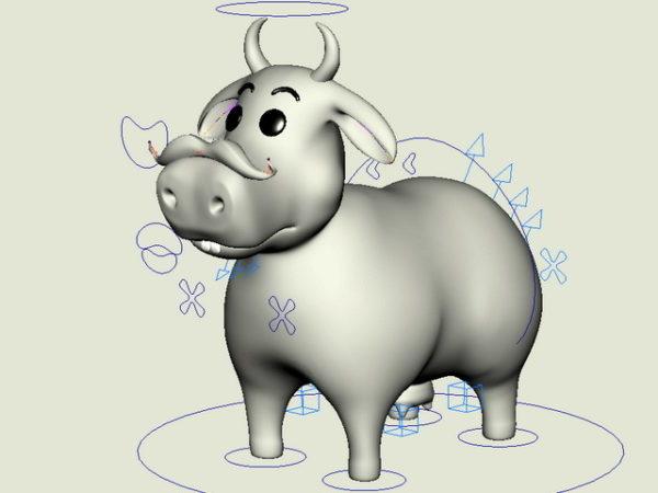مضحك البقرة الكرتون تلاعب