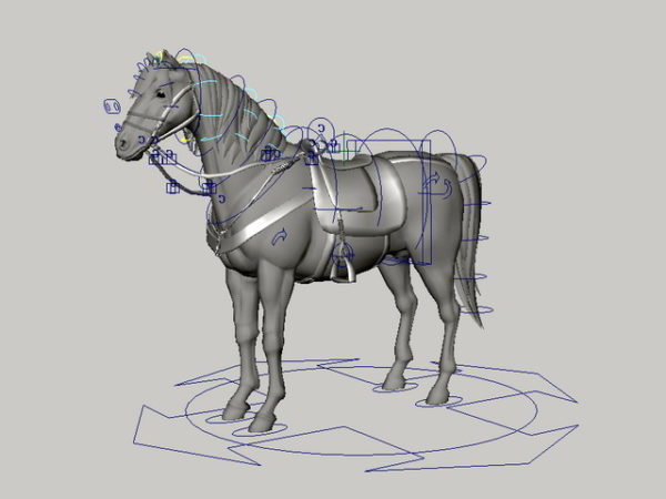Horse With Saddle Rig