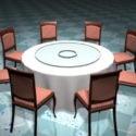 Yuvarlak Ziyafet Masa ve Sandalyeleri