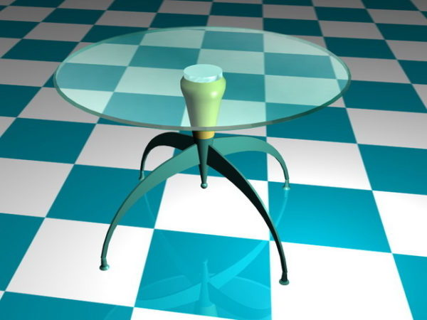 Claw Foot Pedestal Coffee Table
